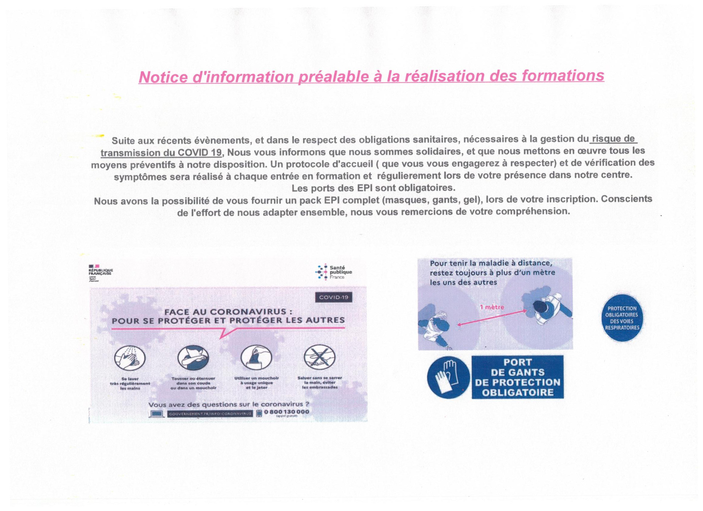 Prevention - Information - CACES Bordeaux - COVID-19